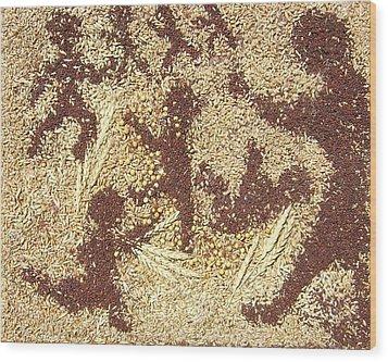 Prairie Grain Dance Wood Print by Naomi Gerrard