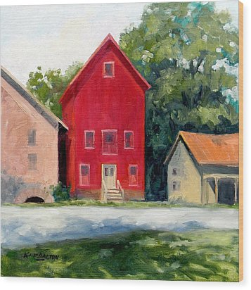 Prallsville Mill Summer Wood Print by Kit Dalton