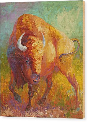 Prarie Gold Wood Print by Marion Rose