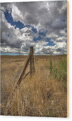 Prarie Sky Wood Print by Peter Tellone