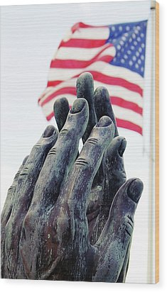 Pray For The Usa Wood Print