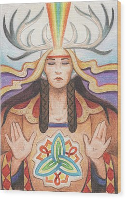 Pray For Unity Dream Of Peace Wood Print by Amy S Turner