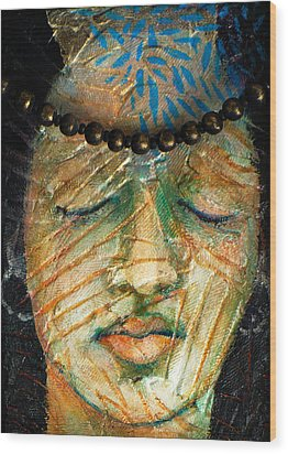 Prayers For The Ancestors Wood Print by Sue Reed