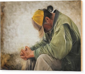 Praying Wood Print