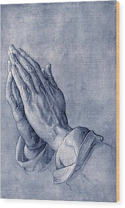 Praying Hands, Art By Durer Wood Print by Sheila Terry