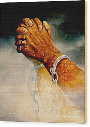 Praying Hands Wood Print by George Combs
