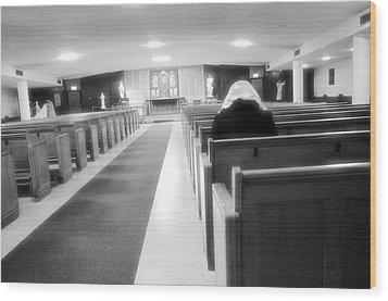 Praying In Peace Wood Print