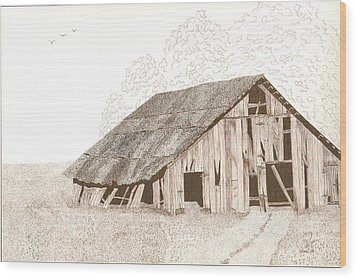 Pre-collapse Wood Print by Pat Price