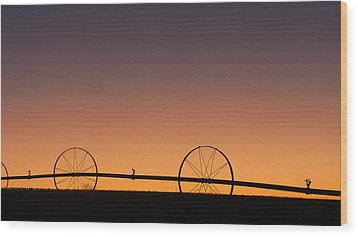 Pre-dawn Orange Sky Wood Print by Monte Stevens