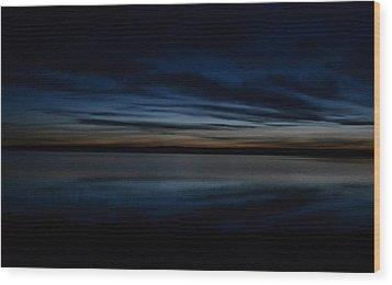 Pre-dawn's Glow Wood Print