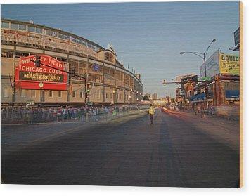 Pre-game Cubs Traffic Wood Print by Sven Brogren