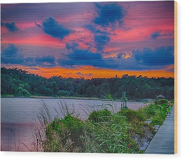 Wood Print featuring the photograph Pre-sunset At Hbsp by Bill Barber