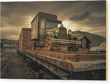 Wood Print featuring the photograph Precious Cargo by Steve Benefiel