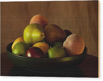 Wood Print featuring the photograph Precious Fruit Bowl by Sherry Hallemeier
