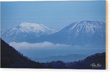 Wood Print featuring the photograph Predawn Peaks by Rikk Flohr