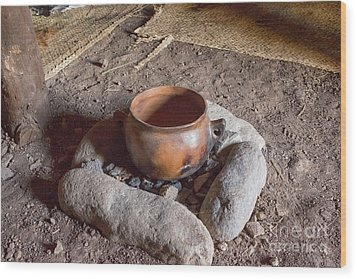 Wood Print featuring the photograph Prehistoric Cooking  by Patricia Hofmeester