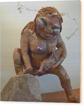 Prehistoric Madonna Wood Print by Francine Frank