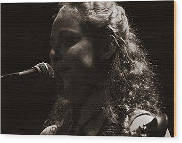 Wood Print featuring the photograph Presenting Ms. Rachel by Karen Musick