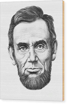 President Abe Lincoln Wood Print by Murphy Elliott