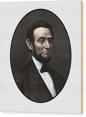 President Abraham Lincoln  Wood Print by War Is Hell Store