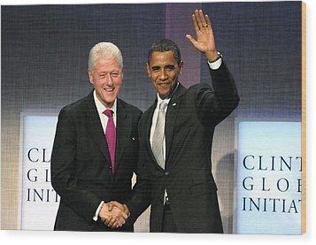 President Bill Clinton, President Wood Print by Everett