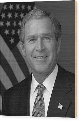 President George W. Bush Wood Print by War Is Hell Store