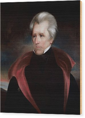 President Jackson Wood Print by War Is Hell Store
