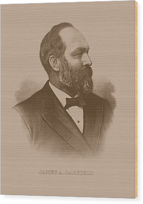 President James Garfield Wood Print by War Is Hell Store