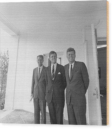 President John Kennedy Wood Print by Everett