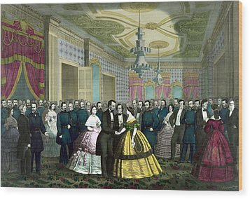 President Lincoln's Last Reception Wood Print by War Is Hell Store