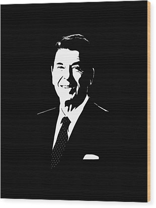 President Ronald Reagan Wood Print by War Is Hell Store