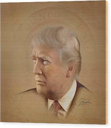 President Trump Wood Print