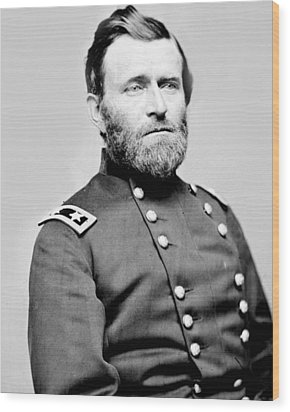 President Ulysses S Grant In Uniform Wood Print