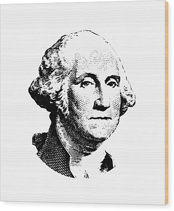 President Washington Wood Print by War Is Hell Store