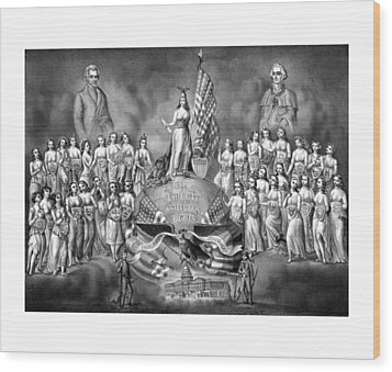 Presidents Washington And Jackson Wood Print by War Is Hell Store
