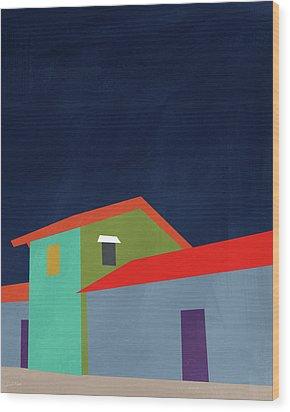 Presidio- Art By Linda Woods Wood Print by Linda Woods