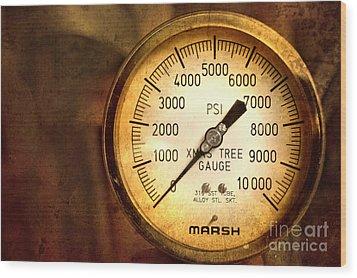 Pressure Gauge Wood Print by Charuhas Images
