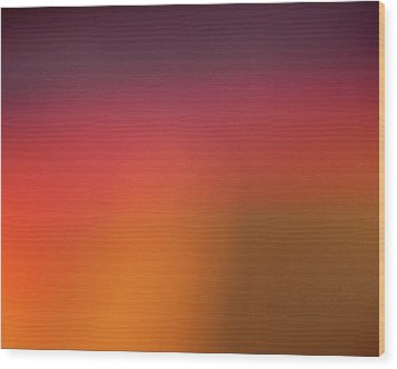 Pretend Sunrise Wood Print by CML Brown