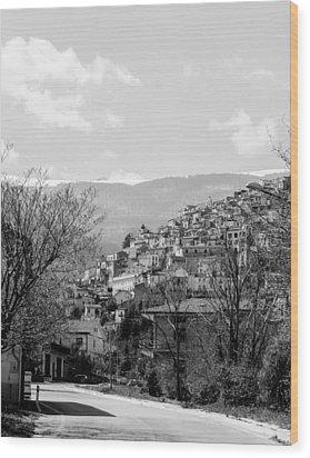 Pretoro - Landscape Wood Print by Andrea Mazzocchetti