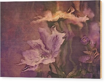 Pretty Bouquet - A04ct3 Wood Print by Variance Collections