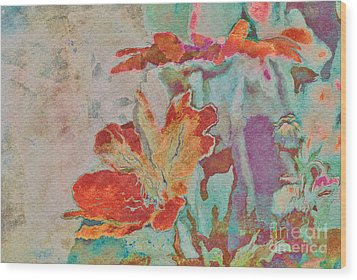 Pretty Bouquet - A09z7bt2 Wood Print by Variance Collections