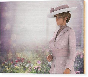Pretty In Pink Wood Print by Jayne Wilson