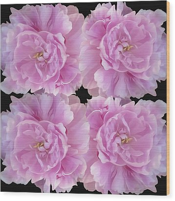 Wood Print featuring the photograph Pretty In Pink by Linda Constant