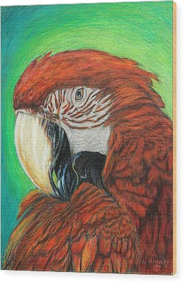 Pretty In Red Wood Print by Angela Finney