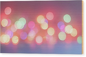 Pretty Pastels Abstract Wood Print by Terry DeLuco