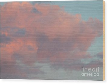 Wood Print featuring the photograph Pretty Pink Clouds by Ana V Ramirez