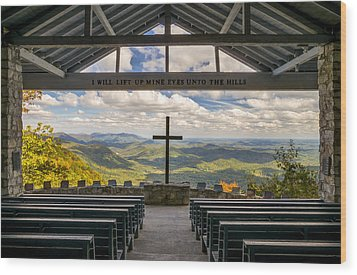 Pretty Place Chapel - Blue Ridge Mountains Sc Wood Print