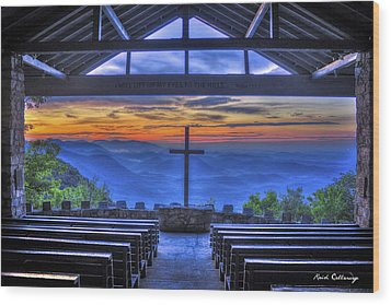 Pretty Place Chapel Sunrise 777  Wood Print by Reid Callaway