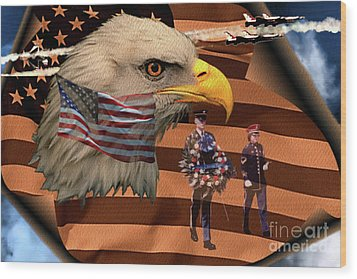 Wood Print featuring the photograph Price Of Freedom by Ken Frischkorn