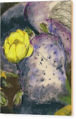 Prickly Pear Wood Print by Marilyn Barton